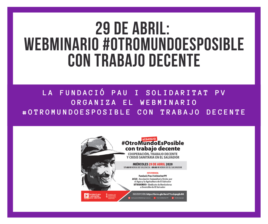 Webminario: #OtroMundoEsPosible con Trabajo Decente