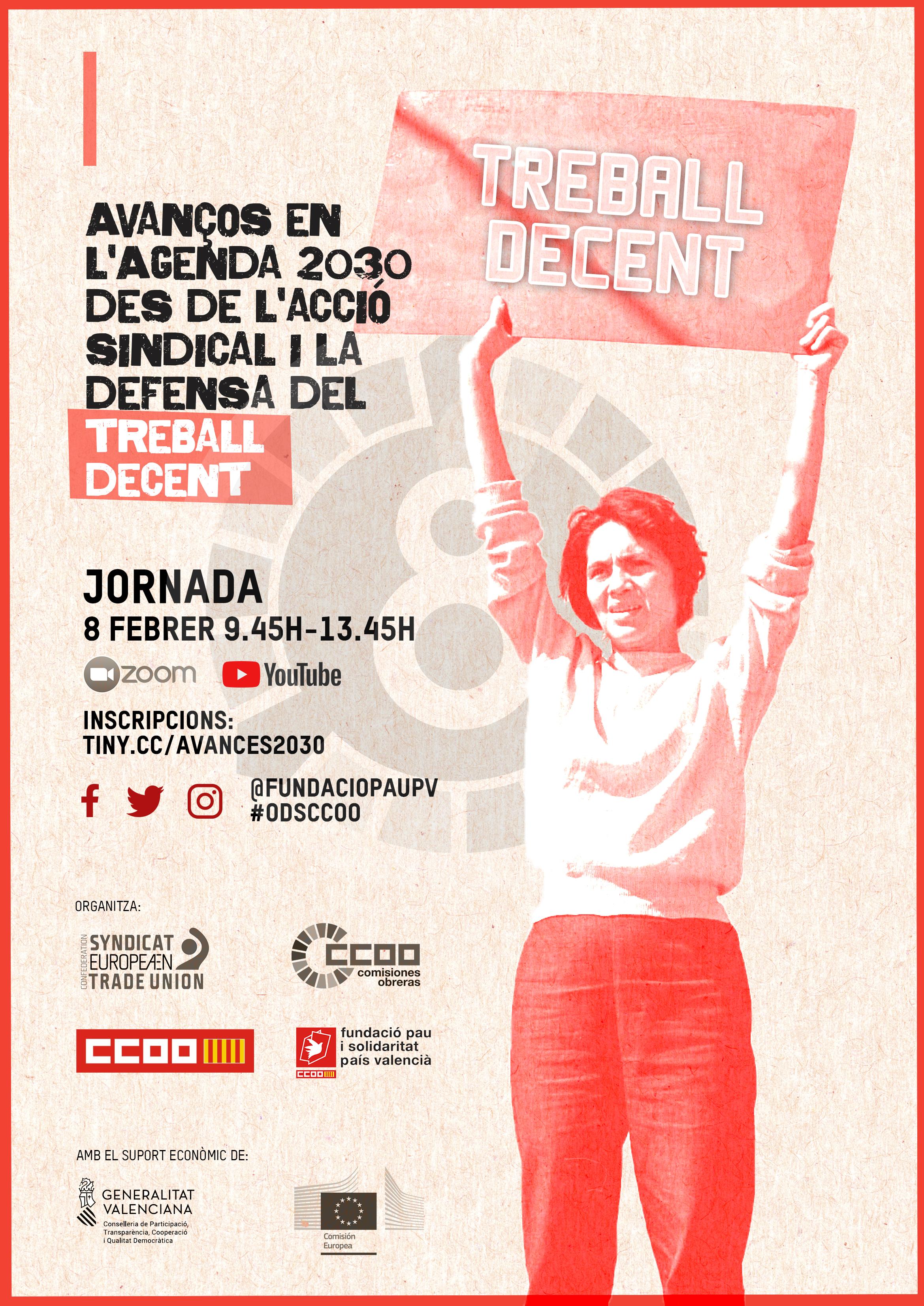 Avanços en l'Agenda 2030 des de l'acció sindical i la defensa del treball decent