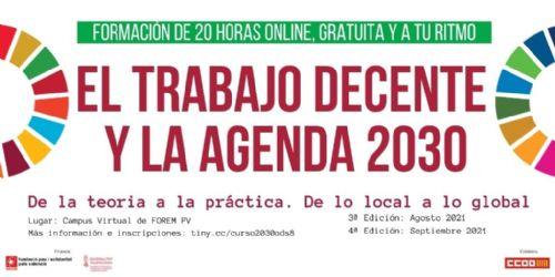 Pau i Solidaritat PV organiza 2 nuevos cursos online