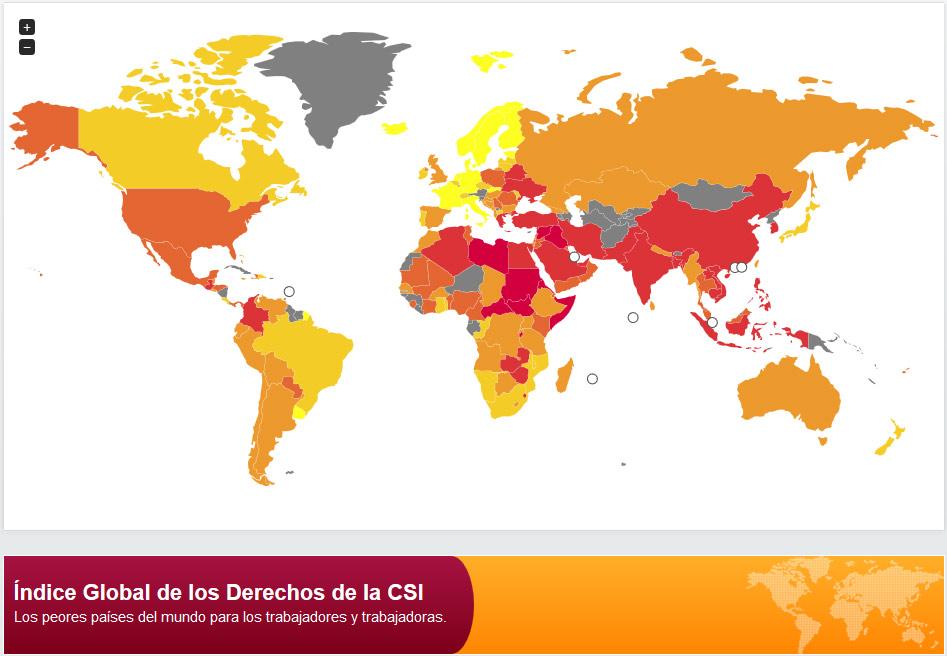 CSI mapa